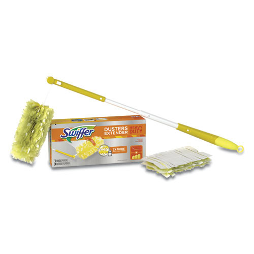 Swiffer Heavy Duty Dusters  Plastic Handle Extends to 3 ft 1 Handle   3 Dusters Kit 6 Ct (PGC 82074CT)