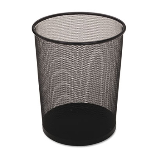 Rubbermaid Commercial Steel Mesh Wastebasket  Round  5 gal  Black  6 Carton (RCPWMB20BKCT)