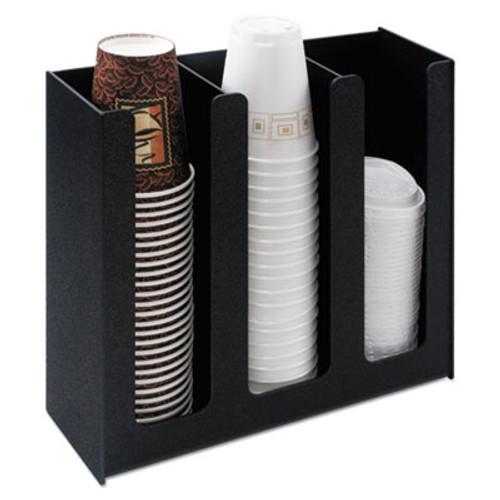 Vertiflex Commercial Grade Cup Holder  12 3 4w x 4 1 2d x 11 3 4d  Black (VRTVFPC1000)