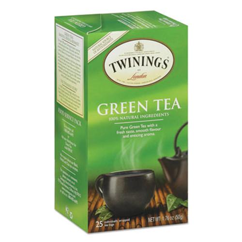 TWININGS Tea Bags, Green, 1.76 oz, 25/Box (TWG09187)