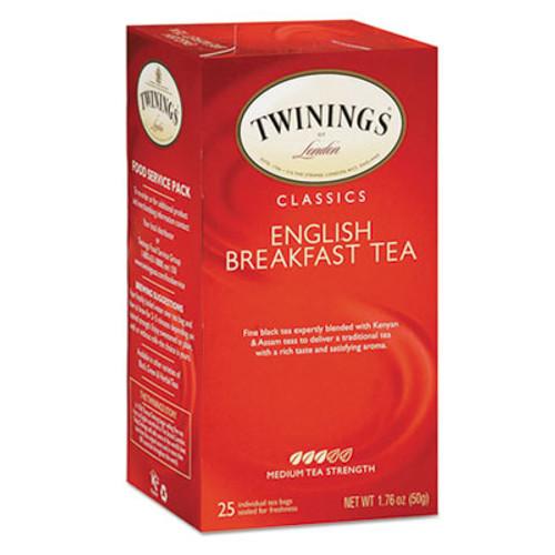 TWININGS Tea Bags, English Breakfast, 1.76 oz, 25/Box (TWG09181)