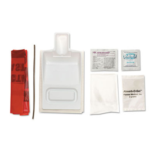 Medline Biohazard Fluid Clean-Up Kit  7 Pieces  Synthetic-Fabric Bag (MII MPH17CE210)