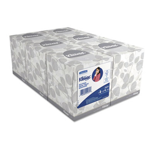 Kleenex Boutique White Facial Tissue  2-Ply  Pop-Up Box  95 Sheets Box  6 Boxes Pack (KCC21271)