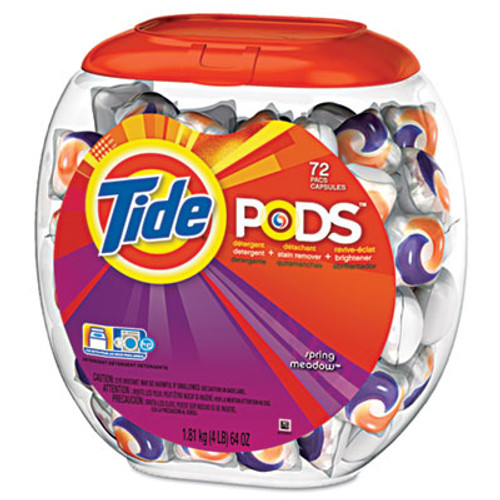 Tide Detergent Pods  Spring Meadow Scent  72 Pods Pack  4 Packs Carton (PGC 50978CT)