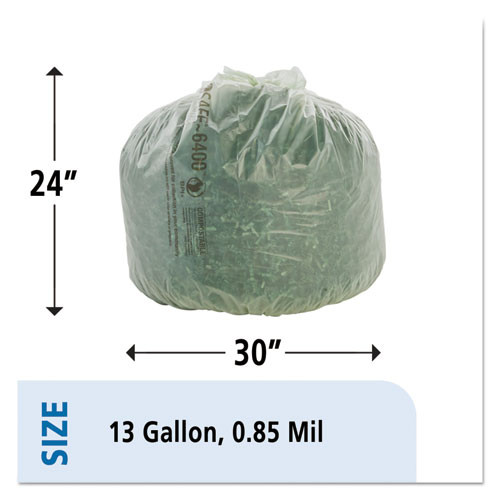 Stout by Envision EcoSafe-6400 Bags  13 gal  0 85 mil  24  x 30   Green  45 Box (STO E2430E85)
