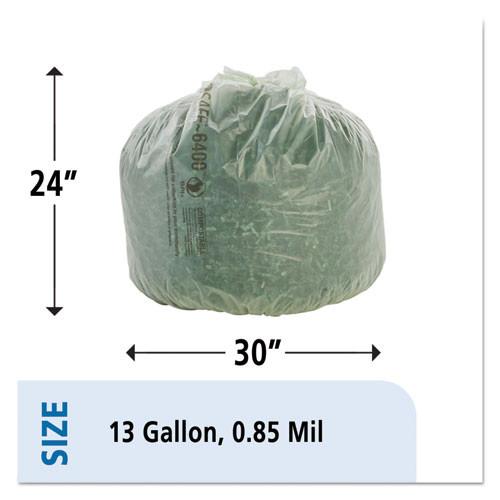 Stout by Envision EcoSafe-6400 Bags  13 gal  0 85 mil  24  x 30   Green  45 Box (STO E2430E85)