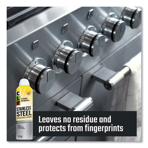 CLR Stainless Steel Cleaner  Citrus  12oz Can  6 Carton (JEL CSS-12)