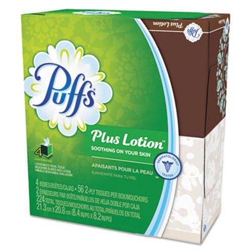Puffs Plus Lotion Facial Tissue  1-Ply  White  56 Sheets Box  24 Boxes Carton (PGC 34899)