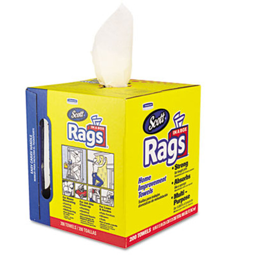Scott Rags in a Box  POP-UP Box  10 x 12  White  200 Box (KCC75260)