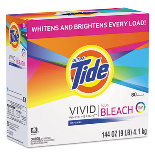 Tide Laundry Detergent with Bleach, Tide Original Scent, Powder, 144 oz Box, 2/Carton (PGC 84998CT)