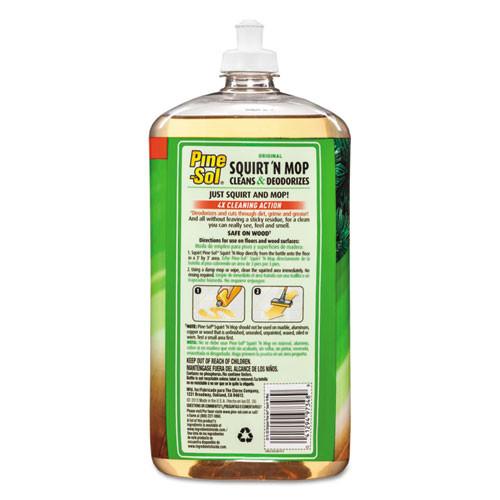 Pine-Sol Squirt 'n Mop Multi-Surface Floor Cleaner  32 oz Bottle  Original Scent  6 CT (CLO 97348)