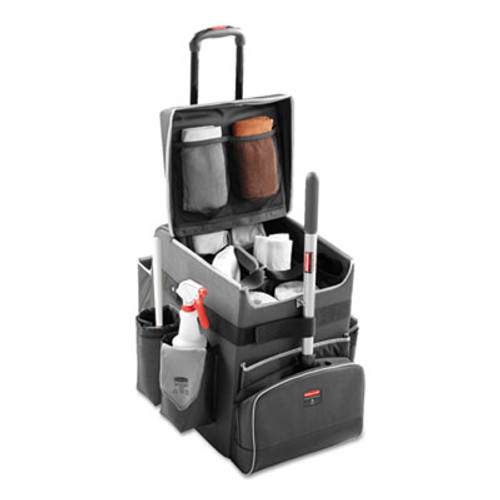 Rubbermaid Commercial Executive Quick Cart, Medium, 14 1/4 x 16 1/2 x 21, Dark Gray (RCP 1902466)