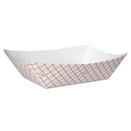 Dixie Kant Leek Polycoated Paper Food Tray  Red Plaid  250 Bag  2 CT (DIX RP3008)