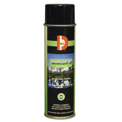 Big D Industries Aerosol Room Deodorant  Mountain Air Scent  15 oz Can  12 Box (BGD 426)