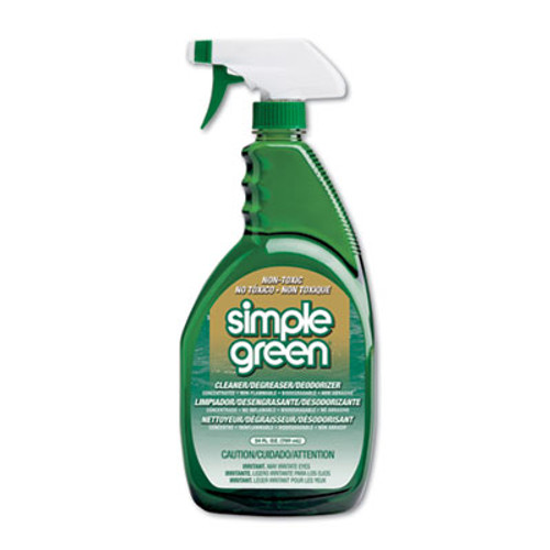 Simple Green Industrial Cleaner and Degreaser  Concentrated  24 oz Bottle  12 Carton (SMP 13012CT)