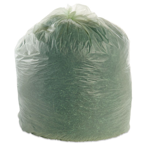 Stout by Envision EcoSafe-6400 Bags  64 gal  0 85 mil  48  x 60   Green  30 Box (STO E4860E85)
