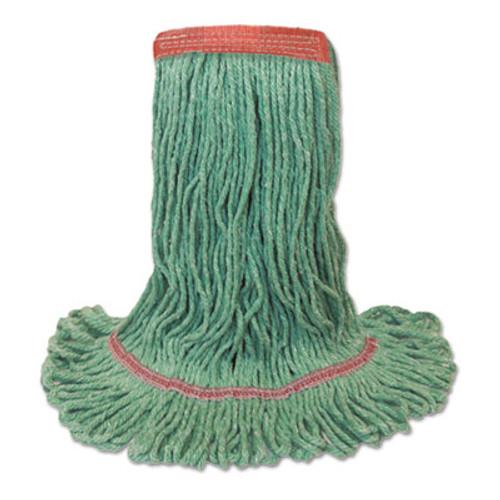 Boardwalk Mop Head  Premium Standard Head  Cotton Rayon Fiber  Medium  Green (BWK 502GNNB)