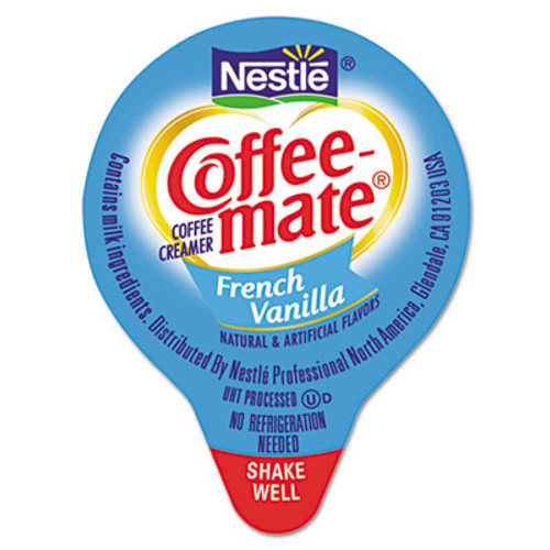 Coffee mate Liquid Coffee Creamer  French Vanilla  0 38 oz Mini Cups  180 Carton (NES 35070)