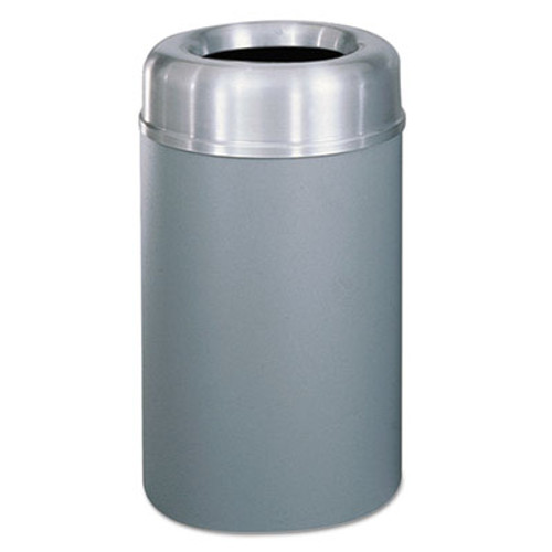 Rubbermaid Commercial Crowne Collection Open Top Receptacle, Aluminum/Steel, 30 gallon, Silver/Gray (RCP AOT30SAGRPL)