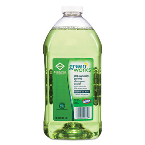 Green Works All-Purpose and Multi-Surface Cleaner  Original  64oz Refill  6 Carton (CLO 00457CT)