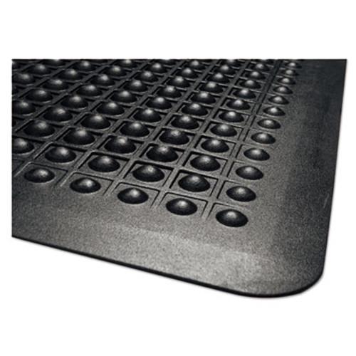 Guardian Flex Step Rubber Anti-Fatigue Mat  Polypropylene  36 x 60  Black (MLL24030500)