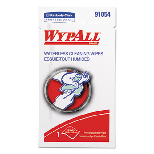 WypAll* Waterless Hand Wipes, Polypropylene, 10 1/2 x 8, 75/Pack, 100/Carton (KCC 91054)