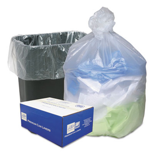 Ultra Plus High Density Can Liners, 16gal, .315mil, 24 x 33, Natural, 200/Carton (WBIWHD2431)