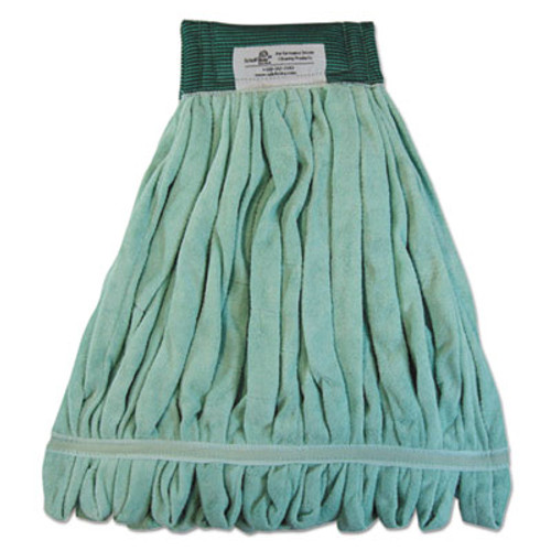 Boardwalk Microfiber Looped-End Wet Mop Heads  Medium  Green  12 Carton (BWK MWTM-GCT)