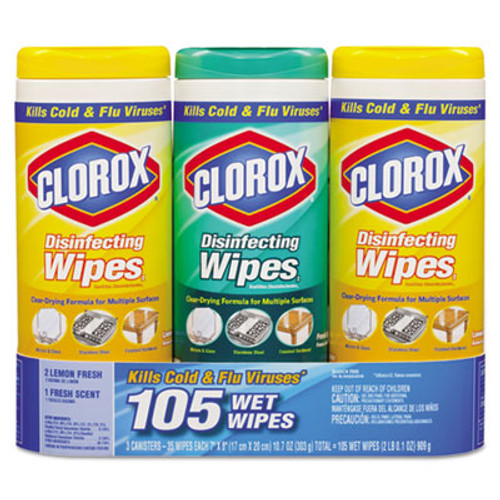 Clorox Disinfecting Wipes  7x8  Fresh Scent Citrus Blend  35 Canister  3 PK  5 Packs CT (CLO 30112CT)