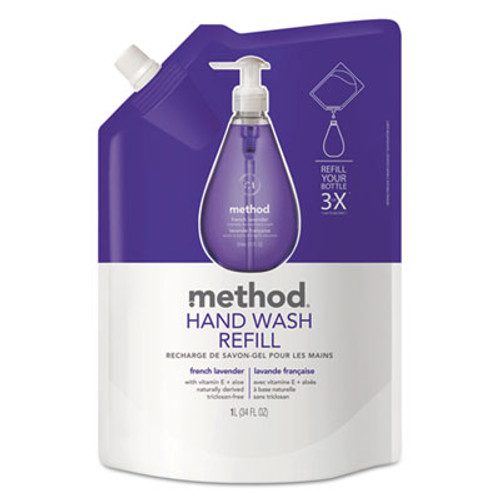 Method Gel Hand Wash Refill, French Lavender, 34 oz Pouch (MTH00654)