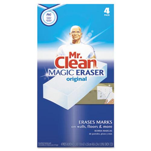 """Mr. Clean Magic Eraser Foam Pad, 2 2/5"""" x 4 3/5"""", White, 4/Box (PGC82027)"""