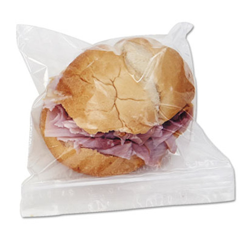 Boardwalk Reclosable Food Storage Bags  Sandwich  1 15 mil  6 5  x 5 89   Clear  500 Box (BWK SANDWICHBAG)
