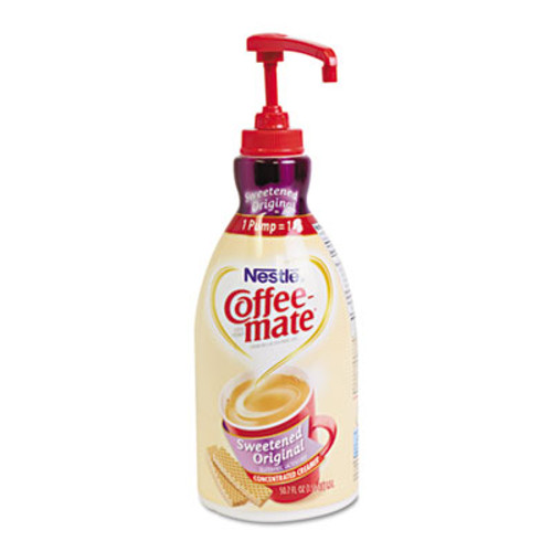 Coffee-mate Liquid Coffee Creamer, Sweetened Original, 1.5 Liter Pump Bottle, 2/Carton (NES 13799CT)