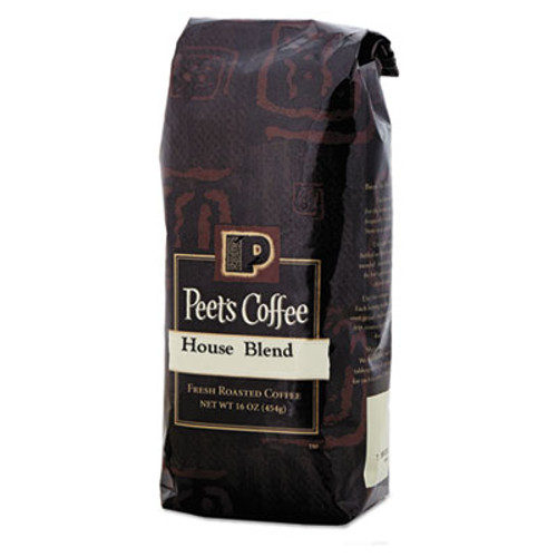 Peet's Coffee & Tea Bulk Coffee, House Blend, Ground, 1 lb Bag (PEE501619)