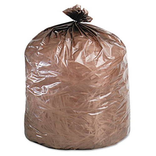 Stout by Envision Controlled Life-Cycle Plastic Trash Bags  39 gal  1 1 mil  33  x 44   Brown  40 Box (STOG3344B11)