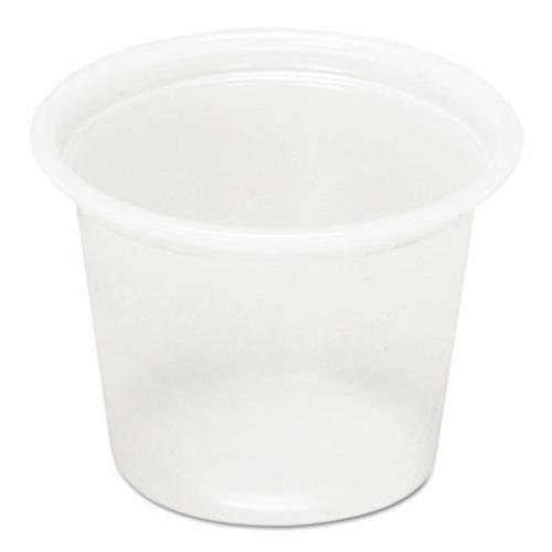 Pactiv Plastic Soufflé Cups, 1 oz, Translucent, 5000/Carton (PAC YS100)