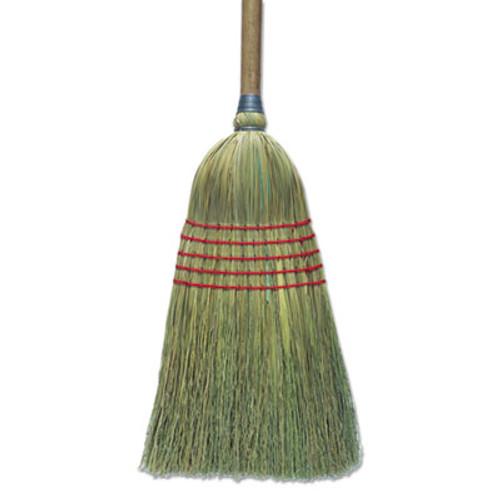 "Boardwalk Corn Broom, 56"", Lacquered Wood Handle, Natural, 6/Carton (BWK BR10003)"