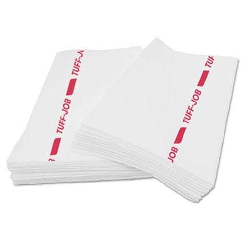 Cascades Busboy Guard Antimicrobial Towels, White/Red, 12 x 24, 20/Pack, 12 Packs/Carton (CSD 35060)