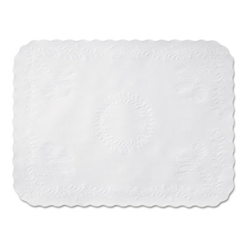 Hoffmaster Scalloped Edge Traymat  Bond Paper  White  16 63 x 12 75  1 000 Carton (HFM TC8704471)
