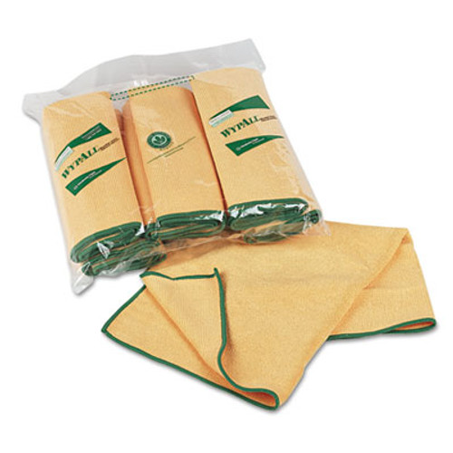 WypAll* Cloths w/Microban, Microfiber, 15 3/4 x 15 3/4, Yellow, 24/Carton (KCC 83610CT)