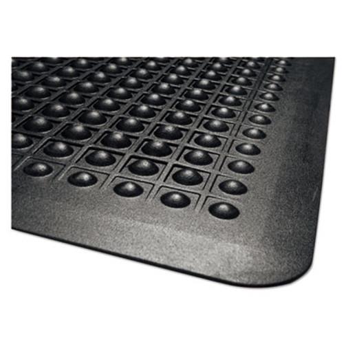 Guardian Flex Step Rubber Anti-Fatigue Mat  Polypropylene  24 x 36  Black (MLL24020300)