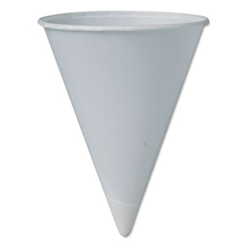 Dart Cone Water Cups  Cold  Paper  4oz  White  200 Pack (SCC 4BRCT)