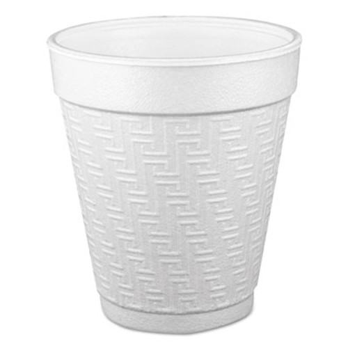 Dart Small Foam Drink Cup  10 oz  Hot Cold  White  25 Bag  40 Bags Carton (DCC 10KY10)