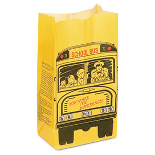 Bagcraft SOS Bakery Bag Dubl Wax, 13lb, Black, Red, Yellow, 500/Carton (BGC 300202)