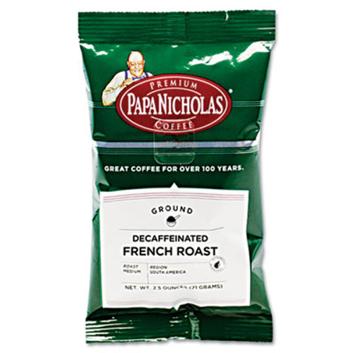 PapaNicholas Coffee Premium Coffee  Decaffeinated French Roast  18 Carton (PCO25186)