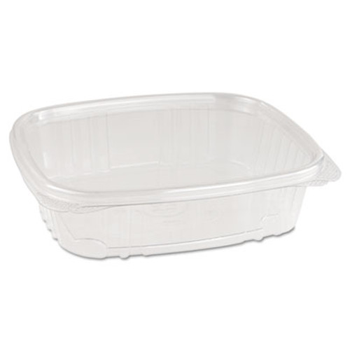 Genpak Plastic Hinged-Lid Deli Containers, High Dome, 24 oz, Clear, 200/Carton (GNP AD24F)
