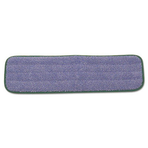 Rubbermaid Commercial Microfiber Wet Mopping Pad  18 1 2  x 5 1 2  x 1 2   Green  12 Carton (RCP Q410 GRECT)