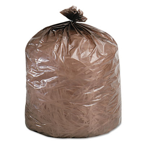Stout by Envision Controlled Life-Cycle Plastic Trash Bags  30 gal  0 8 mil  30  x 36   Brown  60 Box (STOG3036B80)