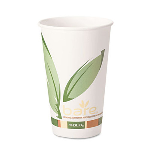 SOLO Cup Company Bare Eco-Forward PCF Paper Hot Cups, 12 oz, 1,000/Carton (SCC 412RCN)