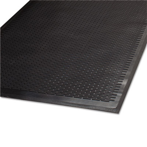 Guardian Clean Step Outdoor Rubber Scraper Mat  Polypropylene  36 x 60  Black (MLL14030500)